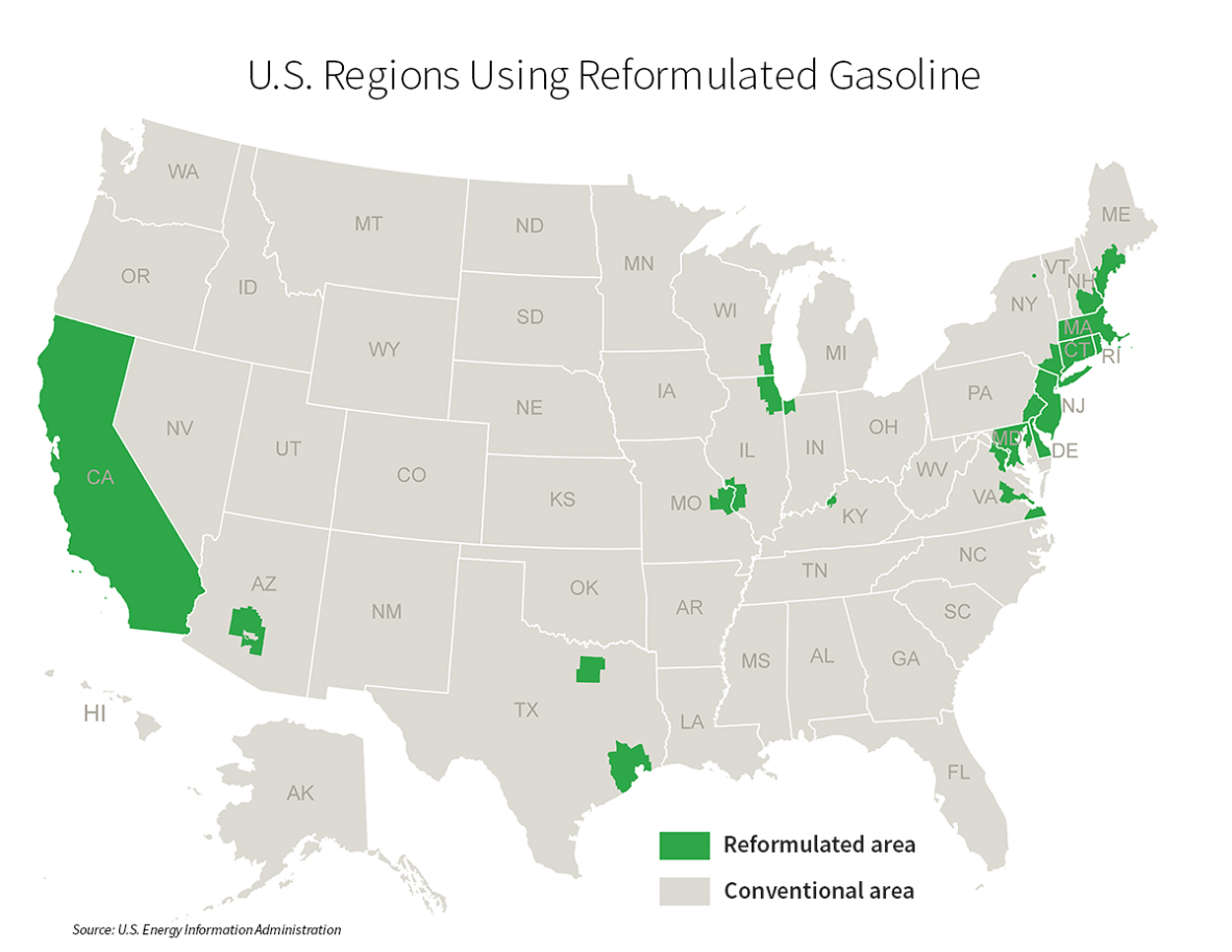 US-Regions-Using-Reformulated-Gas