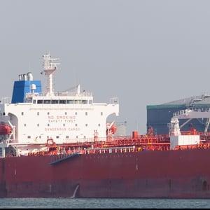 red-cargo-ship-storage-Rotterdam