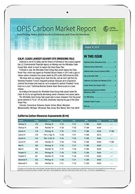 OPIS Carbon Market Report