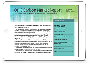 OPIS Carbon Market Report