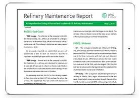 Refinery Maintenance Report