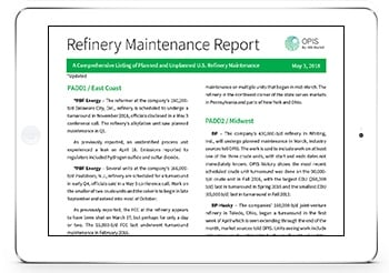 OPIS Refinery Maintenance Report