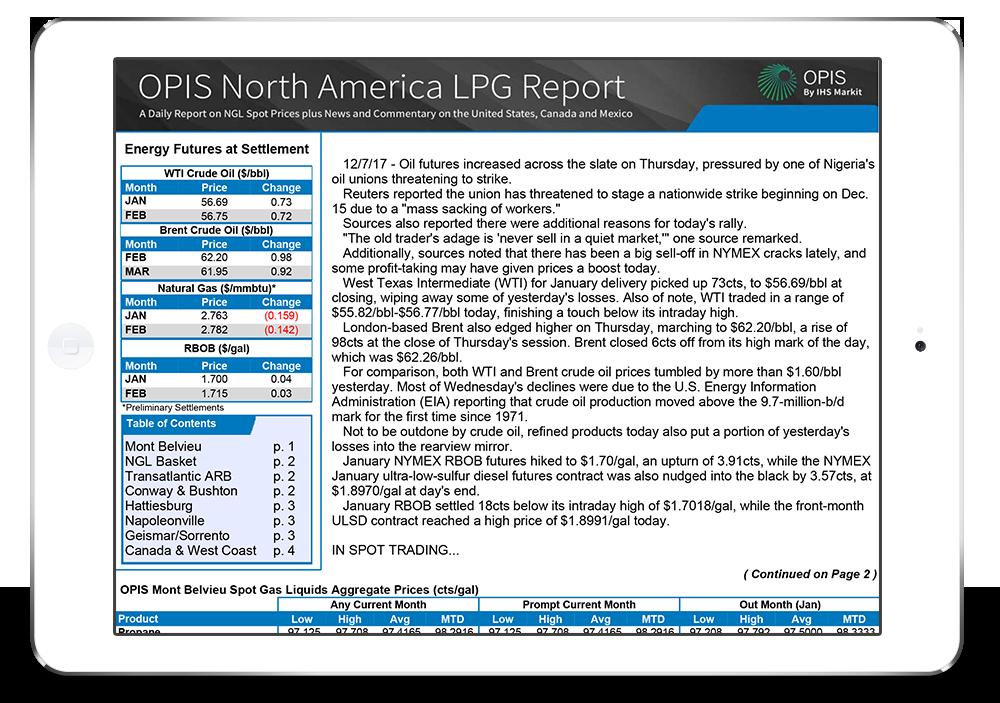 OPIS North American LPG Report
