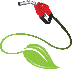 gas pump and leaf